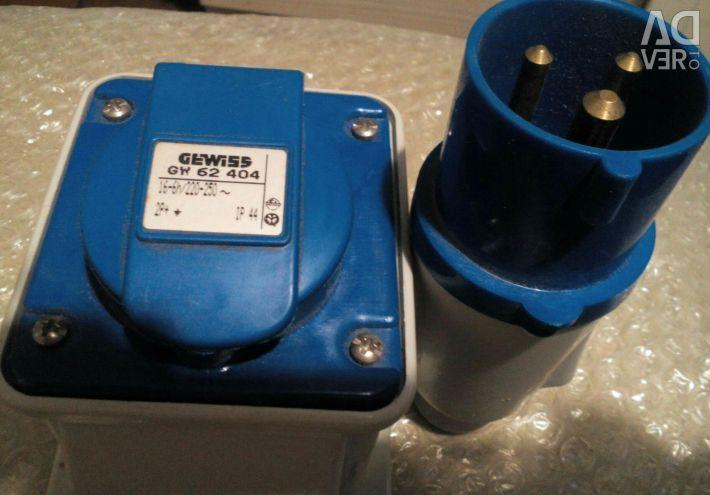 220 / 380v sockets
