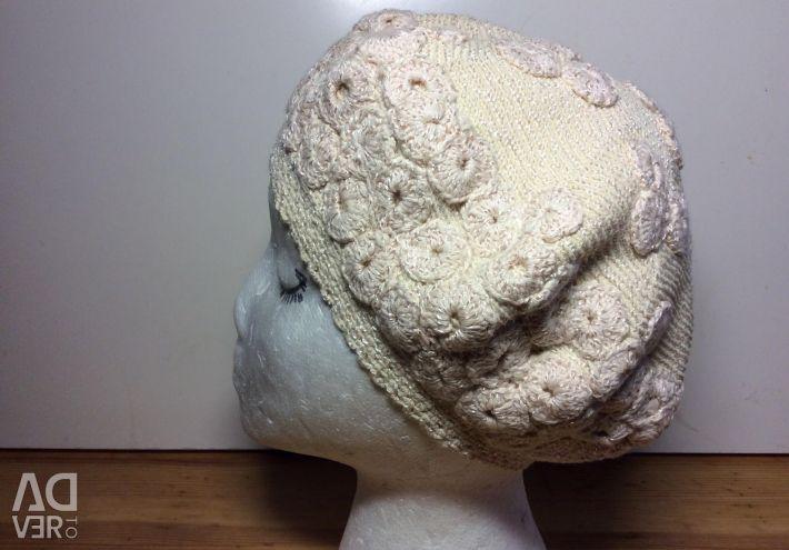 Эксклюзивный беретик, хлопок, арт 069,размер 54-56