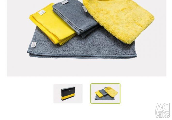Napkin for washing and dry cleaning cars
