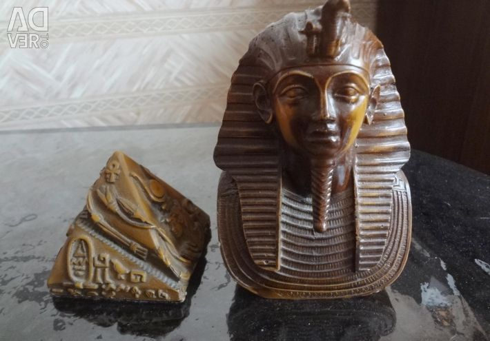 Vase + dolphin, Sphix + pyramid