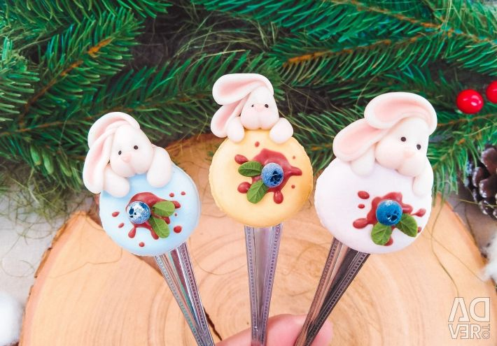 Decor with polymer clay spoons