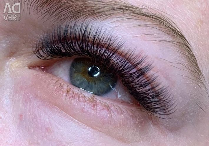 Extension, lamination, Botox eyelashes.