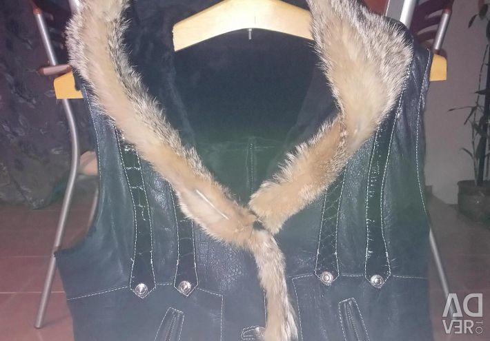 Χειμερινό σακάκι χειμωνιάτικο από δέρμα