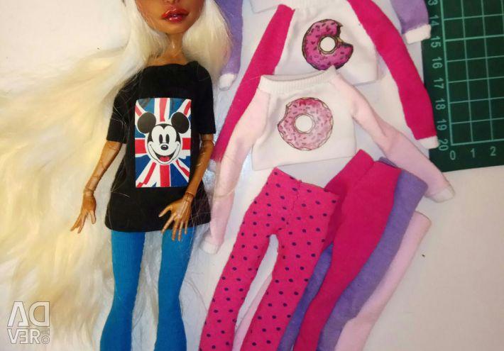 Одежда для кукол Монстр хай рисунок сшитая подарок