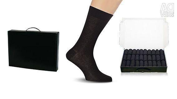 Κάλτσες σε μια επαγγελματική περίπτωση, μια περίπτωση κάλτσες, ένα δώρο σε έναν άνδρα