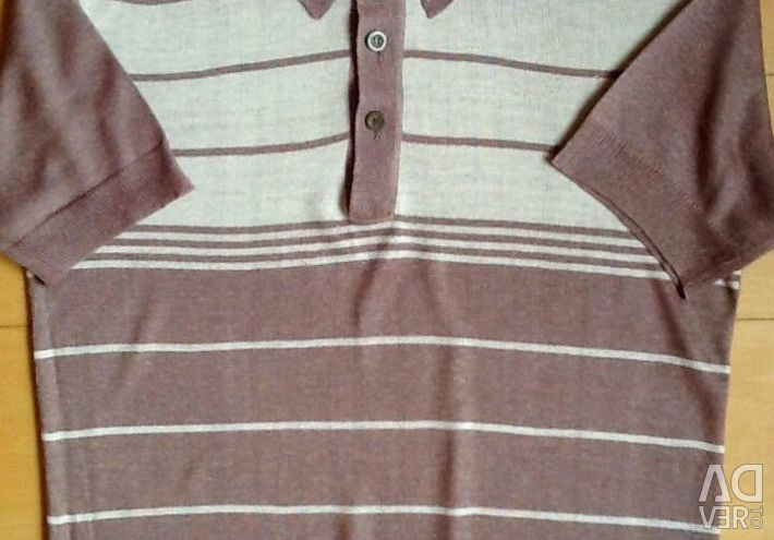 Мужская трикотажная рубашка,новая