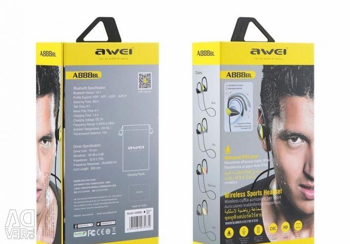 🔥 Căști Bluetooth Căști Awei A888bl Sport