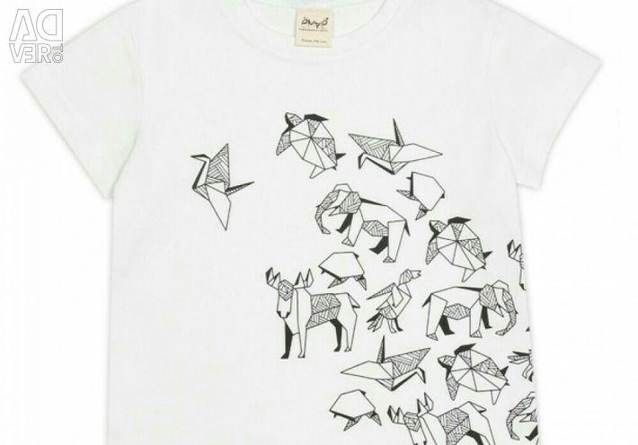 Το μπλουζάκι είναι λευκό, origami