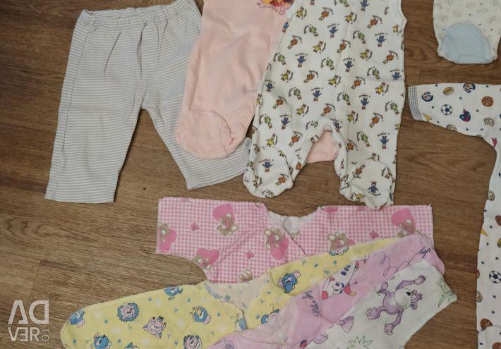 Ένα πακέτο πραγμάτων για ένα μωρό 0-3 μήνες