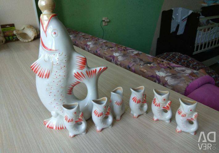 Набір коньячно-горілчаний рибки