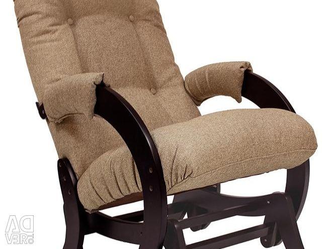 Άσπρο κουνιστό καρέκλα οικολογικό δέρμα