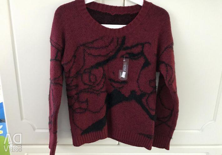 Sweater cardigan burgundy new