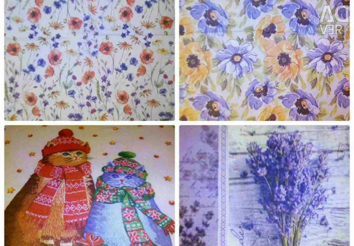 Paper decoupage wipes