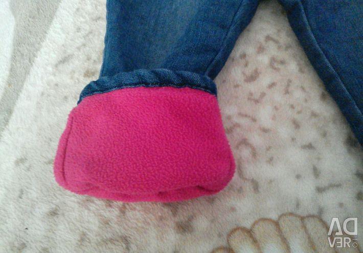 Jeans warmed
