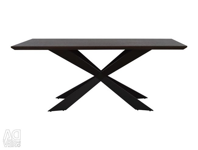 TABLE HM8112.01 WATER BASE WITH METAL BASE 180x90x