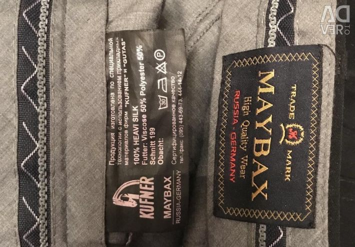 Maybax classic trousers for man + Montblanc Belt