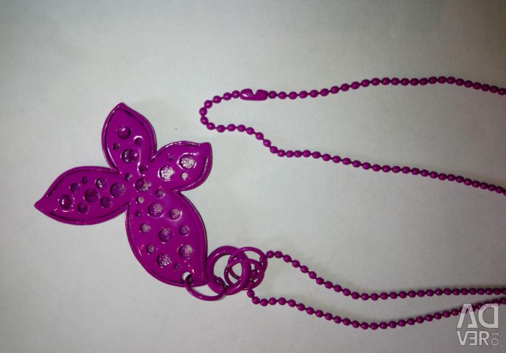 Butterfly bright pink chain