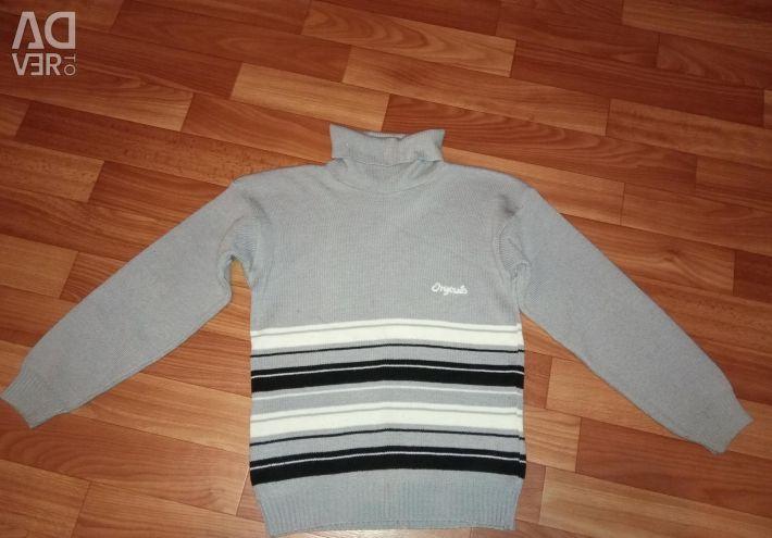 Trowel, jeans, sweaters