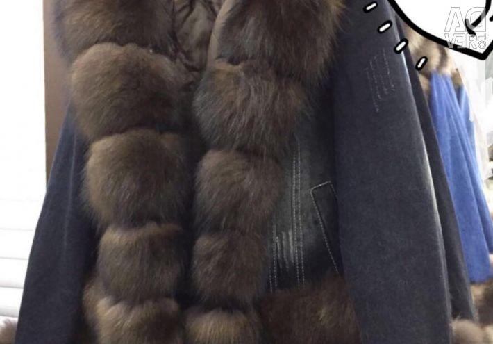 Νέο ginnitsovki με αλεπού γουνών ζεστό