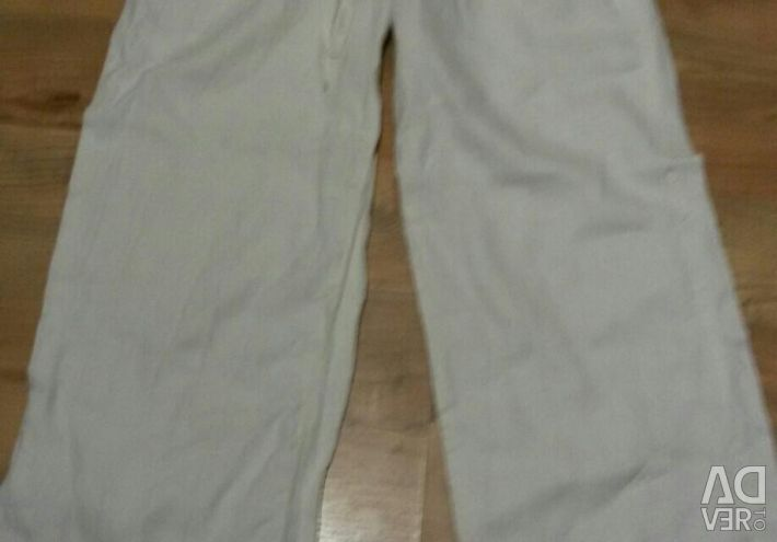 Linen breeches for tummy