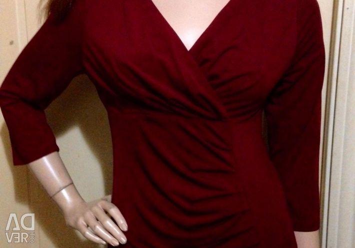 Bluză cu o înveliș pe piept 48 rr