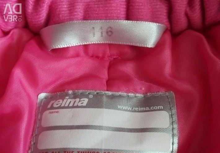 Bib overalls REIMA р.110-116, for 5-6 years