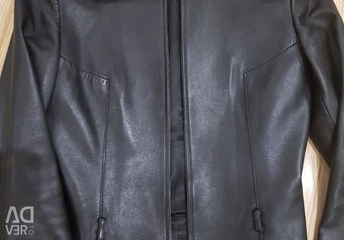 Natural leather jacket