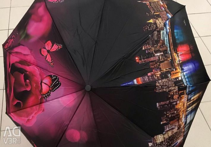 Women's umbrella with a bright print