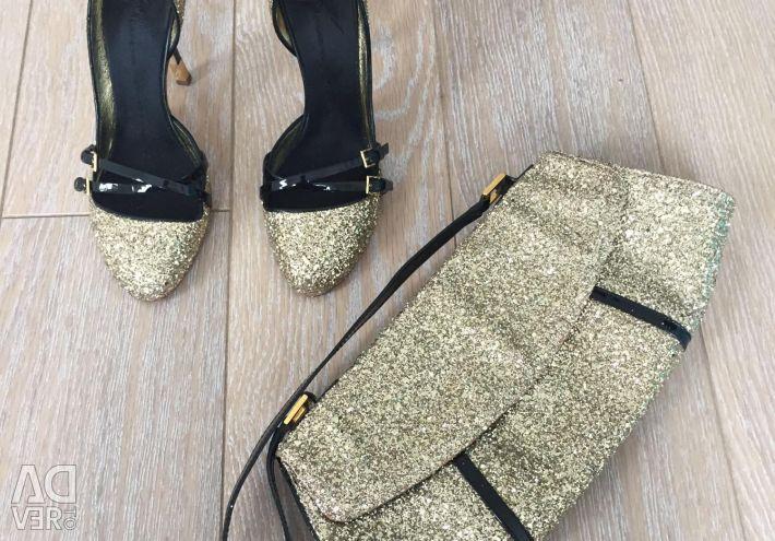 Pantofi și ambreiaj Zanotti versiunea originală 37