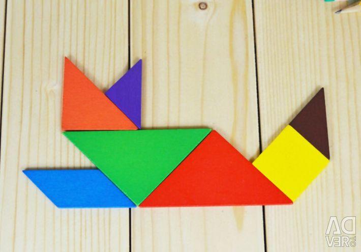 "Puzzle ""Tangram"". Nou."