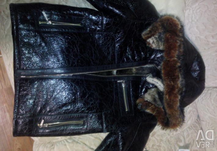 Short sheepskin coat for 6-9 years