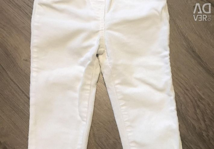 Білі штанці штани carters 24 міс
