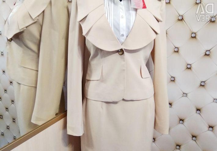Suit fustă și jachetă