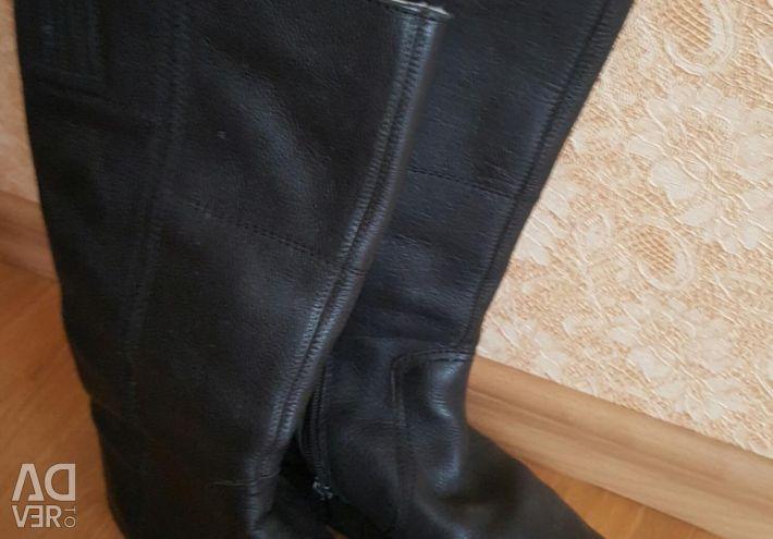 Χειμερινά δερμάτινα μπότες 36 r