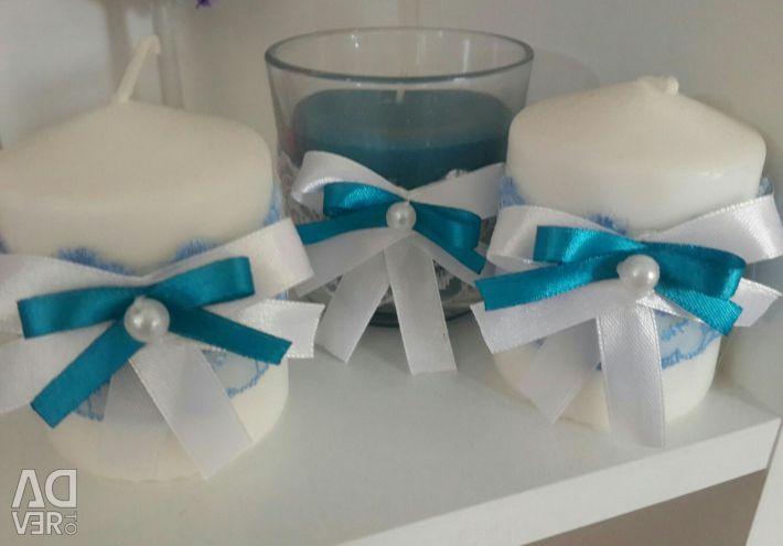 Wedding set of candles