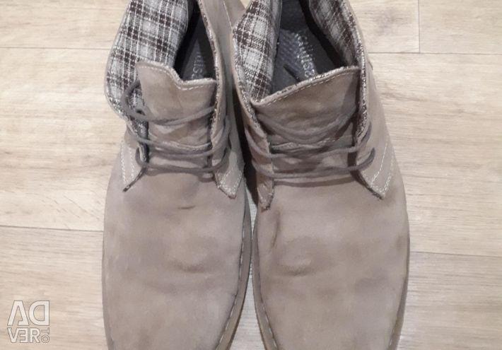 Ботинки замшевые р.44-45 Италия