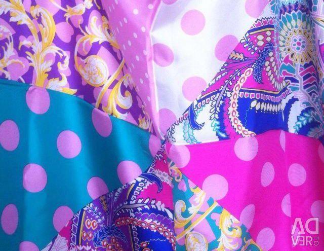 New scarf natural silk 90/90 cm