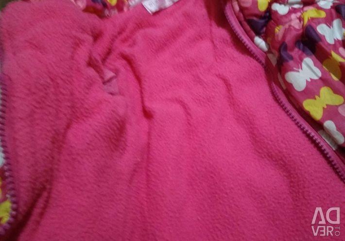 Jacket pentru o fată. 85-100 cm înălțime