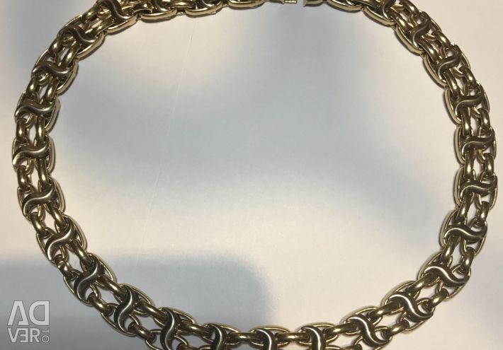 Gold necklace 750 standart, 43 cm, 40 gr.