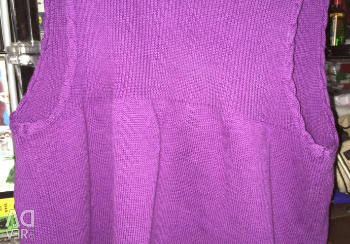 Sleeveless vest for height 164 cm