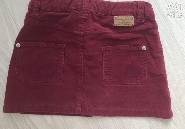 Corduroy skirt for children 110