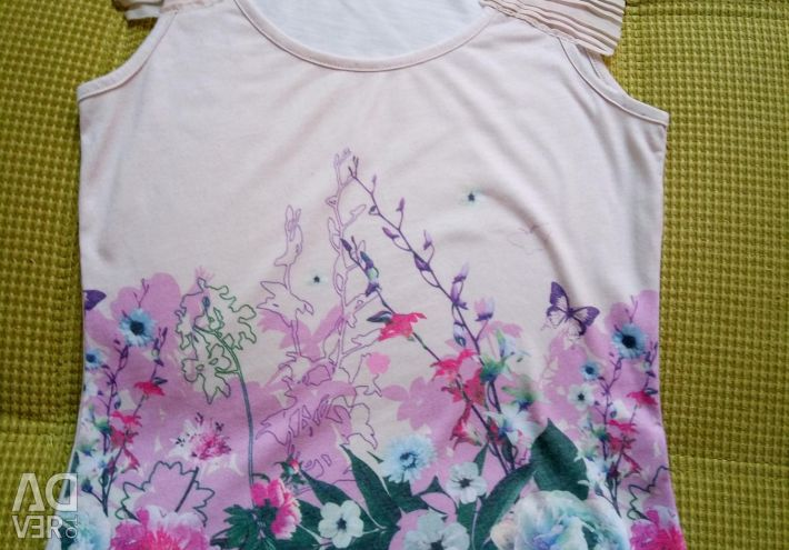 T-shirt with flowers ostin