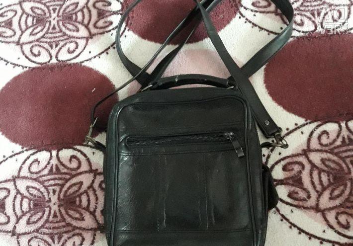 Νέα Δερμάτινη τσάντα που πιέζεται για άντρες