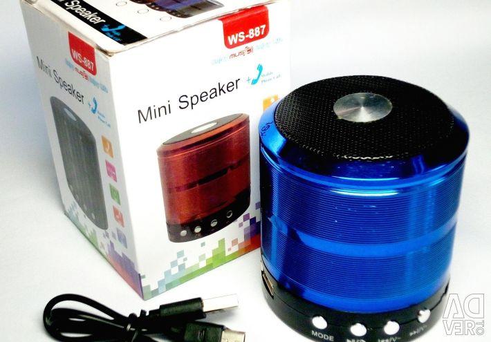 🔥 Mini difuzor Bluetooth USB TF AUX FM Mic