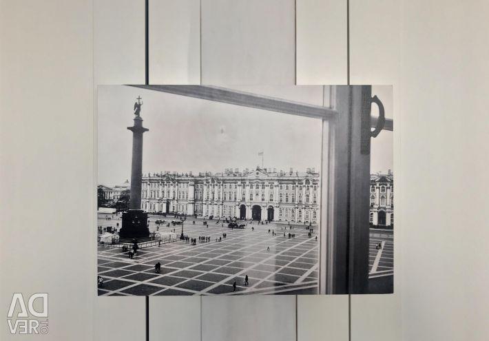 Фото друк на дереві. 39 * 55 Палацова площа