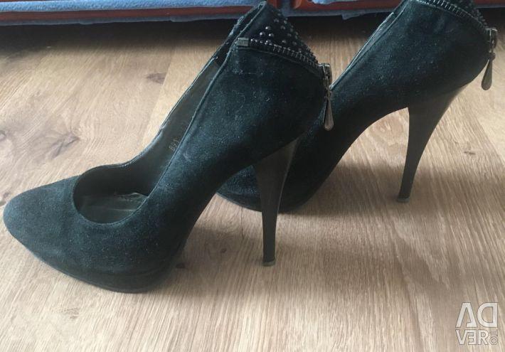 Туфлі жeн., Замша натуральна