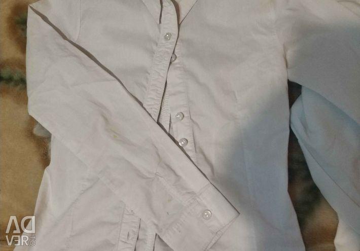 3 school blouses for a girl 128 / 140cm