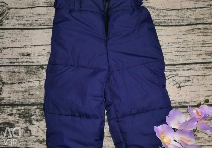 Separate overalls for winter, girl from 26 to 36