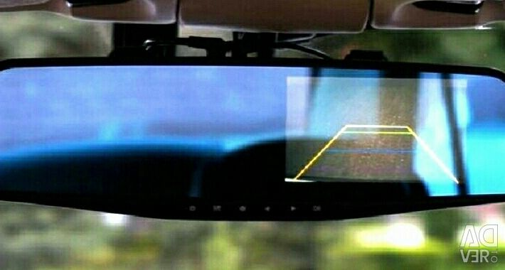 Video Recorder Mirror, 2 HD Cameras, Chamber in