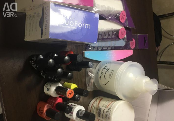 A lot of things for manicure